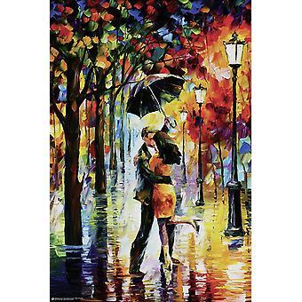 Dance Under The Rain Poster Leonid Afremov