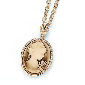 Oliver Weber Chain Cameo Simple Gold Crystal