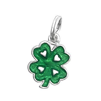Clover - 925 Sterling Silver Charms with Split ring - W30052X