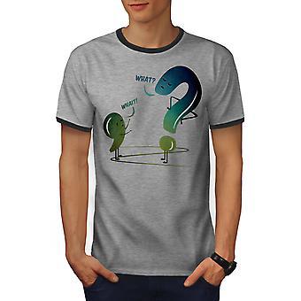 Gramática hombres divertidos Heather gris / Heather GreyRinger oscuro camiseta | Wellcoda