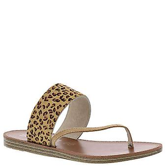 Corkys Womens Camilla Leather Open Toe Casual Slide Sandals