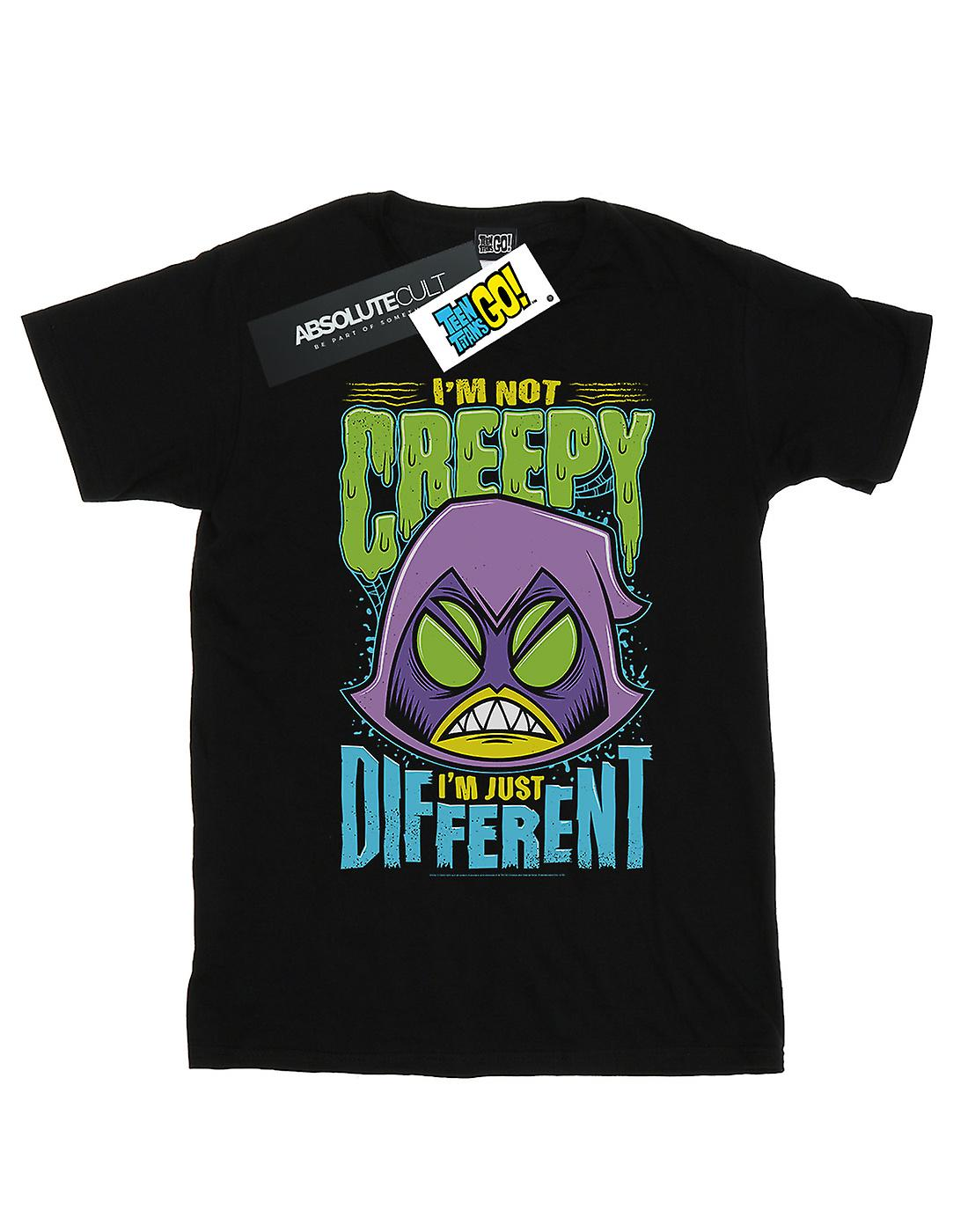 DC Comics Women's Teen Titans Go Creepy Raven Boyfriend Fit T-Shirt