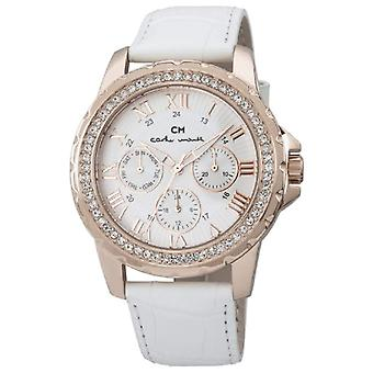 Carlo Monti CM600-316-wristwatch, leather, color: white