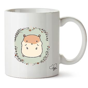 Hippowarehouse schattige Hamster afgedrukt mok Cup keramiek 10oz