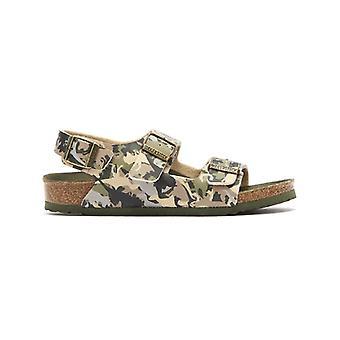 Atletisk Milano Birko Flor barna Dino Camo Khaki sandaler