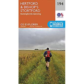 Hertford and Bishop's Stortford (September 2015 ed) by Ordnance Surve