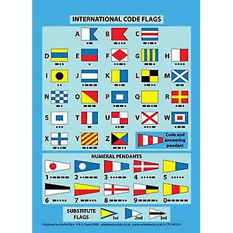 International Code Flags - Encapsulated Card with Meanings on Reverse