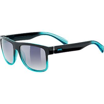 Uvex LGL 21 Black Turquoise Mirror Smoke Degraded