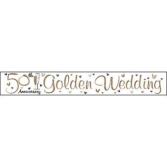Simon Elvin Gold Anniversary Foil Party Banner
