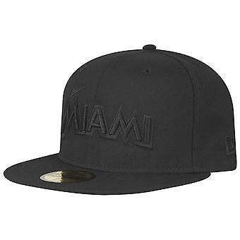 New Era 59Fifty Cap - MLB BLACK Miami Marlins