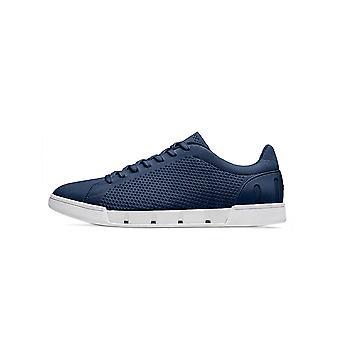 Swims Navy & White Breeze Tennis Knit Sneaker