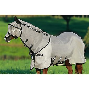 Rambo Flybuster Vamoose Pony/horse Fly Rug - Oatmeal With Black