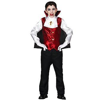 Boys Childrens Dracula Fancy Dress Costume