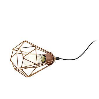 Lámpara de mesa de color cobre de Eglo Tarbes