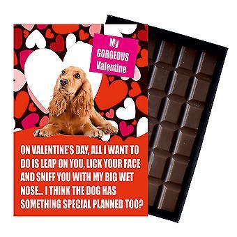 Cocker Spaniel Regalo para San Valentín Regalos para los amantes del perro chocolate en caja