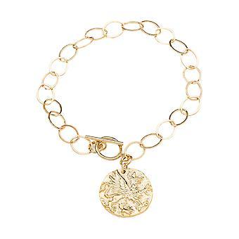 Gemshine armband Coin hänge Pegasus häst 925 silver eller ädel guldpläterad