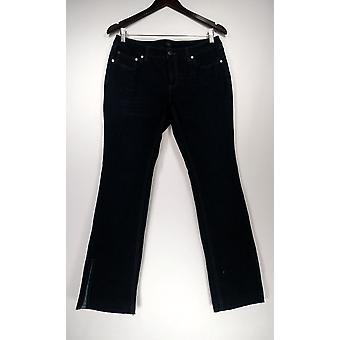 G.I.L.I. Got It Love It Petite Jeans Released Hem Side Slit Blue A297943