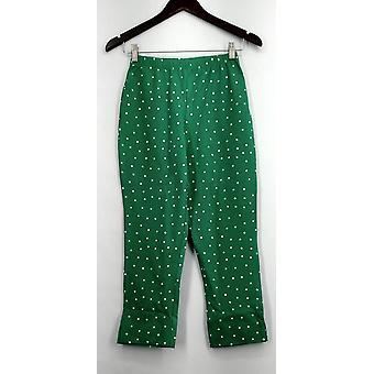 Kvinder med kontrol bukser beskåret Confetti dot Slim ben Jade grøn A252814