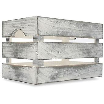 Wellindal Wooden Box Albox White (Decoration , Boxes and baskets , Boxes)