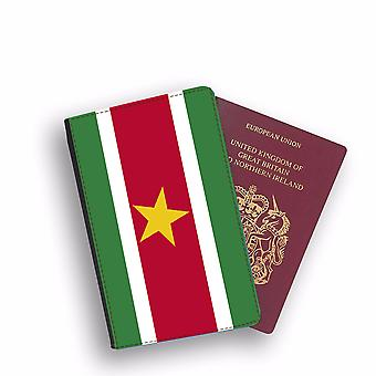 SURINAME Flag Passport Holder Style Case Cover Protective Wallet Flags design