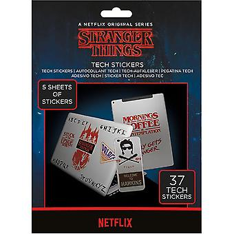 Stranger Things Tech Stickers