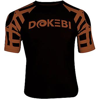 Dokebi Ghost Ranked Short Sleeve BJJ Rashguard - Brown