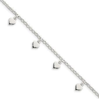 925 Sterling Silver Polished Fancy Lobster Closure Anklet 10 Inch Lobster Claw Jewelry Gifts for Women