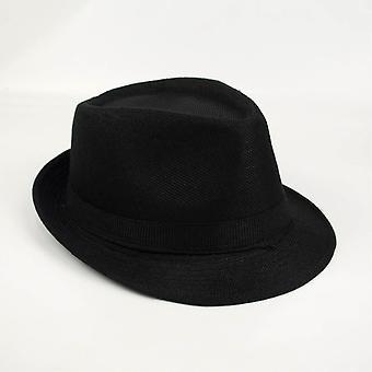 Homem mulher Unisex Chic chapéu de sol Billycock-Black