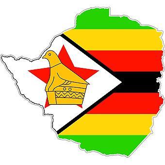 Aufkleber Aufkleber Adhesif Vinyl Auto Flagge Simbabwe Karte