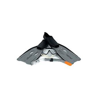 Osprey Adult Fins Flipper, Mask & Snorkel Diving Swimming Set Size 6-7