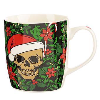 Puckator Santa botten kerst schedel mok