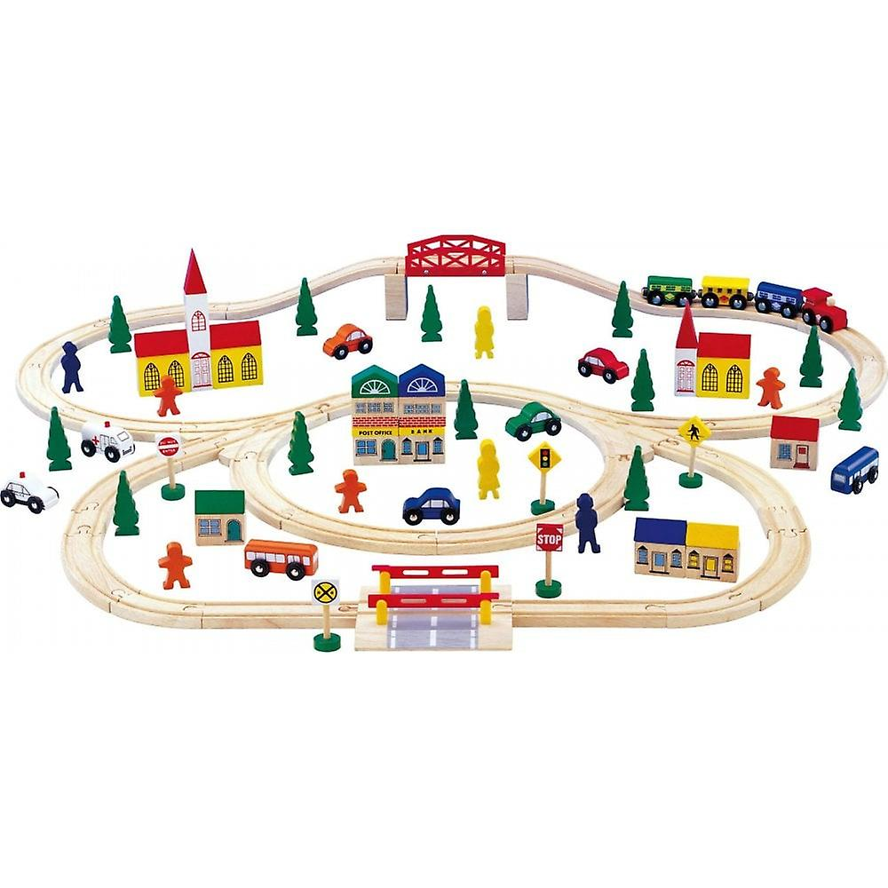 Small Foot Extra Large Wooden Train Set 100 Pieces