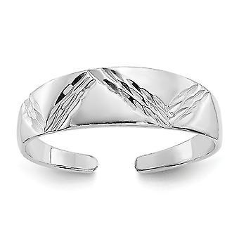 14k oro blanco pulido de la punta del pie joyería regalos para las mujeres - 1.1 gramos
