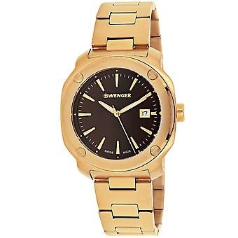 Wenger Men's Edge Index Brown Dial Watch - 01.1141.114