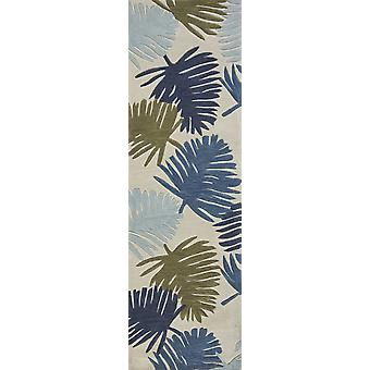 """2 ' 3 """"x 7 ' 6"""" Runner Polyester Ivory Area matto"""