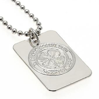 Celtic FC Silver Plated Dog Tag and Chain