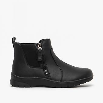 Dr Keller Lily Ladies Pu Ankle Boots Black