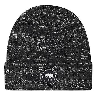 SoulCal Unisex Cal Kabru Hat Knitted Embroidered Badge Hat Headwear
