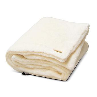 Teddy bear plaid Dog / Pet Blanket Ivory