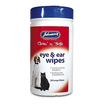 Johnsons Pet Clean N Safe Eye And Ear Wipes