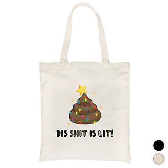 DIS shit on valaistu Poop hauska joulu kankaalle laukku lahja idea