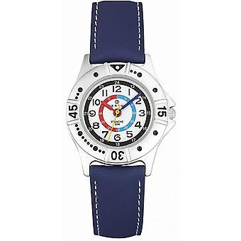 Titta Certus 647435-Watch gar på tyg blå bo nivå vit barn