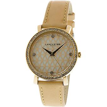 Lancaster watch watches LOUVRE LPW00317 - watch LOUVRE leather Beige woman