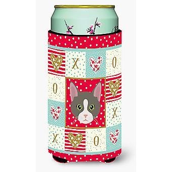 Brazilian Shorthair Cat Tall Boy Beverage Insulator Hugger