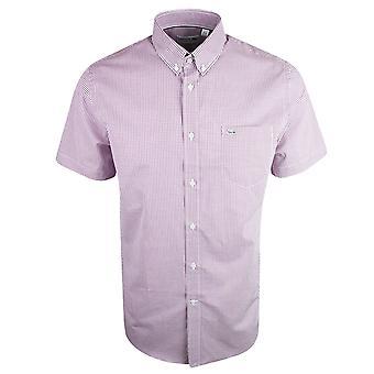 Ch3972 لاكوست العادية تناسب القميص الوردي قصيرة الأكمام
