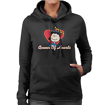 Peanuts Lucy Van Pelt Queen Of Hearts Women's Hooded Sweatshirt