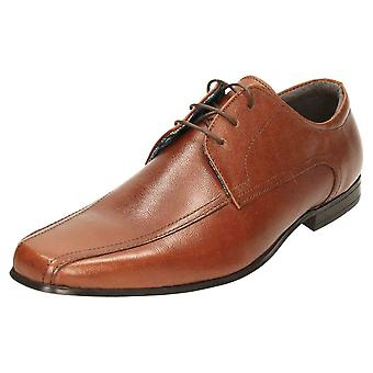 Red Tape Lederen Formele Lace Up Wedding Schoenen Brown