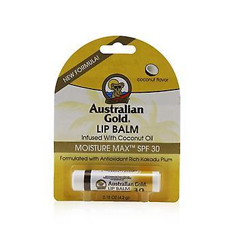 Australian Gold Lip Balm Moisture Max Spf 30 Infused With Coconut Oil - 4.2g/0.15oz