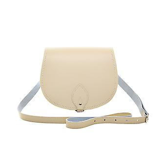 Zatchels Womens/Ladies Handcrafted Pastel Leather Saddle Bag (British Made)