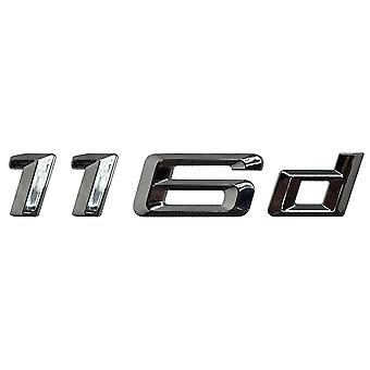 Silver Chrome BMW 116 D Car Model Rear Boot Number Letter Sticker Decal Badge Emblem For 1 Series E81 E82 E87 E88 F20 F21 F52 F40